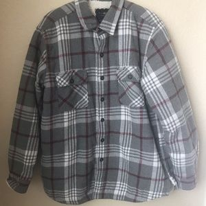 Club Room Sherpa Lined Shirt Jacket Size Large